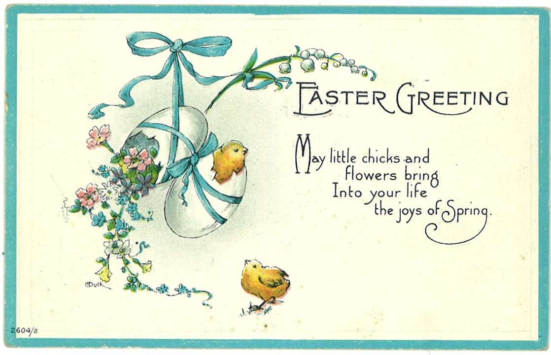 Easter greetings 1910s a fine collection yesterday m4hsunfo