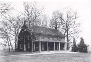 The Sandy Spring Friends Meeting House, built 1817, in an undated photo.