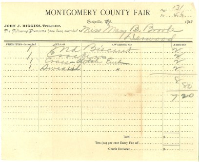 1912 Miss Brooke receipt